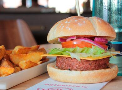 Hamburguesa vegana redbar